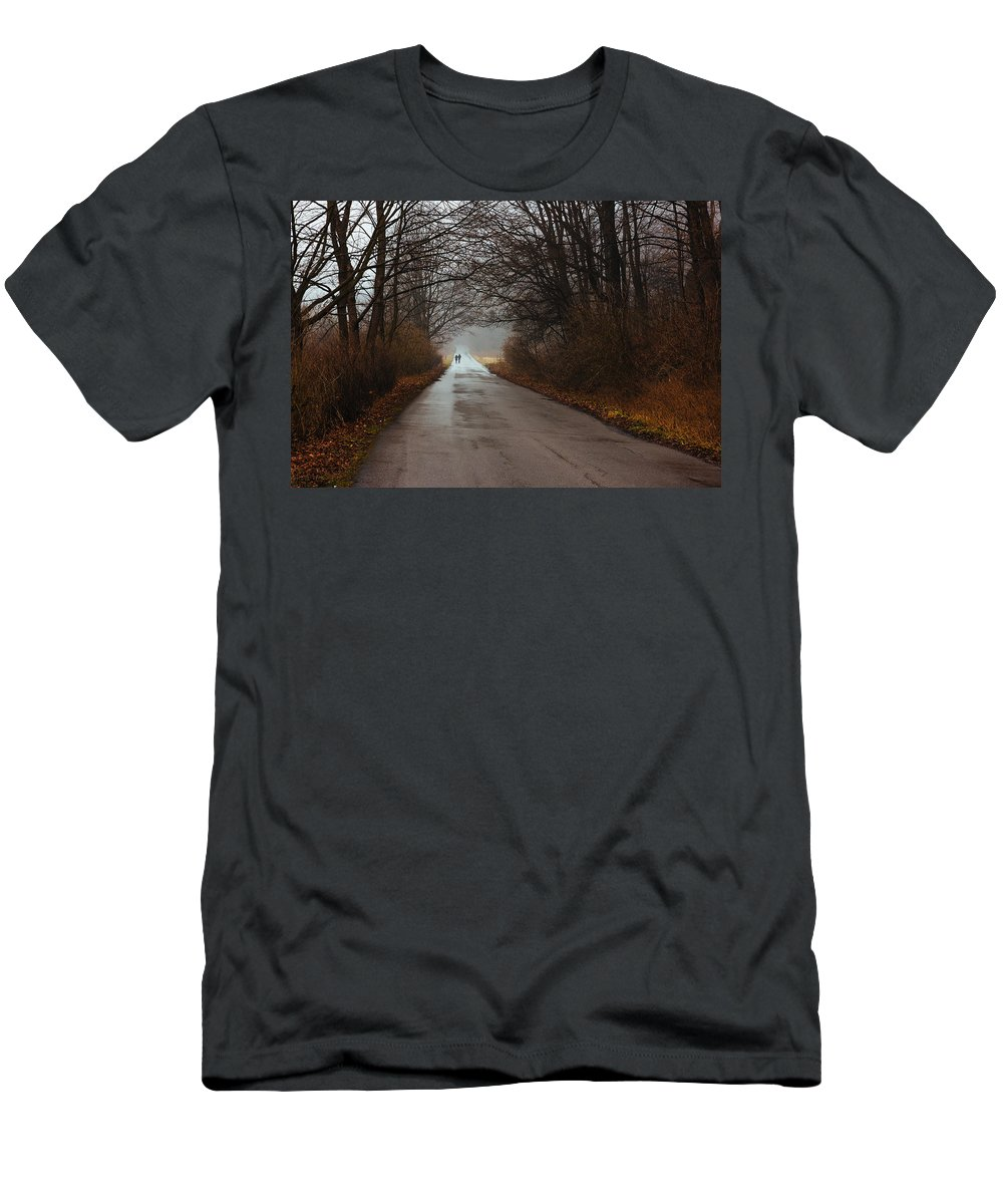 People Men's T-Shirt (Athletic Fit) featuring the photograph A Winter Walk by Pati Photography