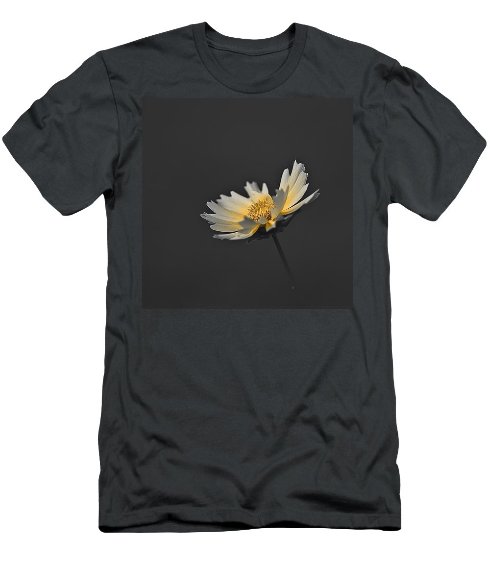 Selective Color Men's T-Shirt (Athletic Fit) featuring the photograph A Yellow Glow by Samantha Eisenhauer