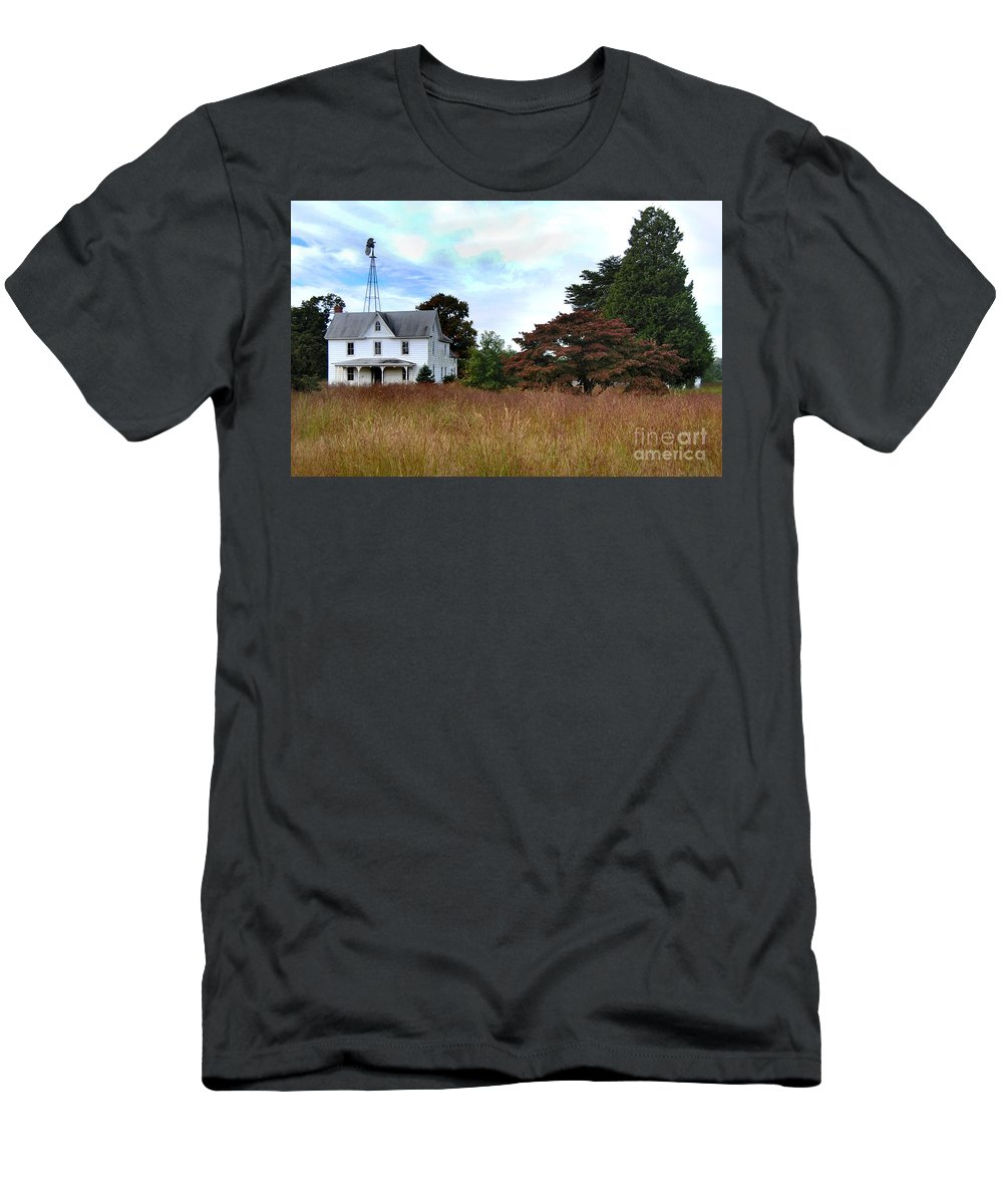 Nature Men's T-Shirt (Athletic Fit) featuring the photograph Abandoned by Skip Willits