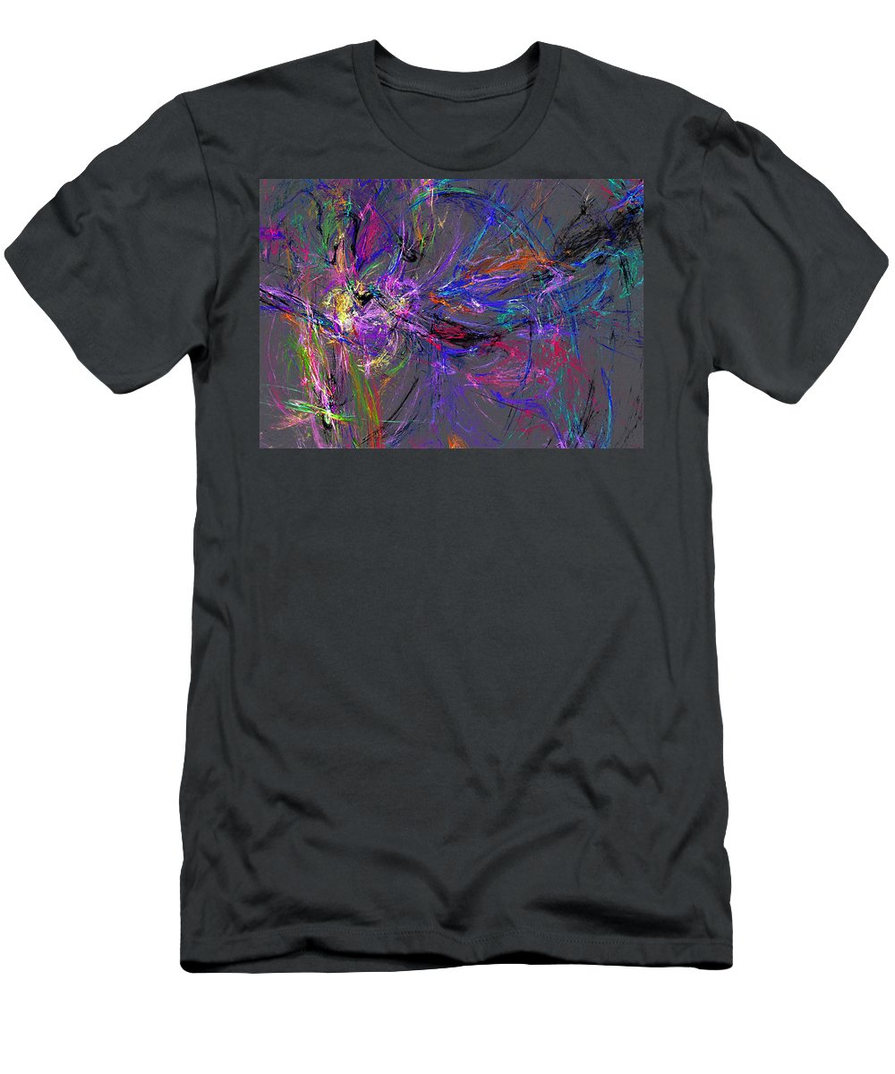 Men's T-Shirt (Athletic Fit) featuring the digital art Abstract 060613 by David Lane