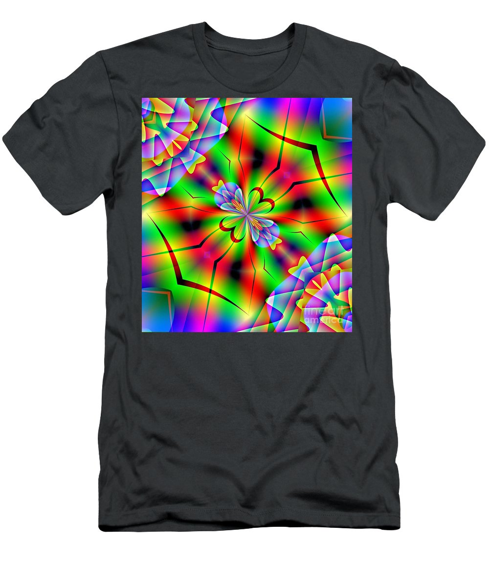 Abstract Men's T-Shirt (Athletic Fit) featuring the digital art Abstract 172 by Maria Urso