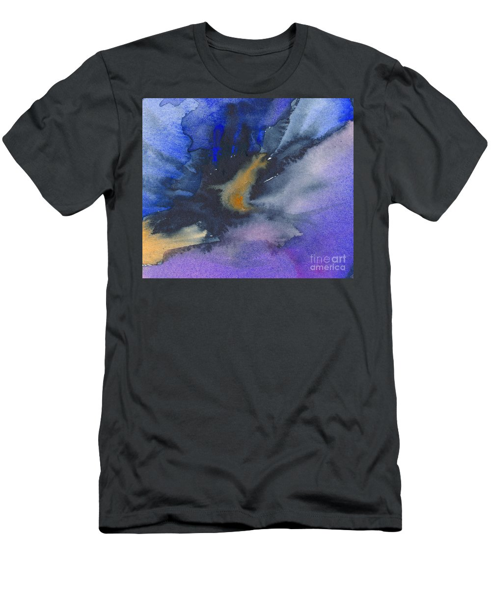 Splash Men's T-Shirt (Athletic Fit) featuring the painting Abstract Color Splash by Kerstin Ivarsson