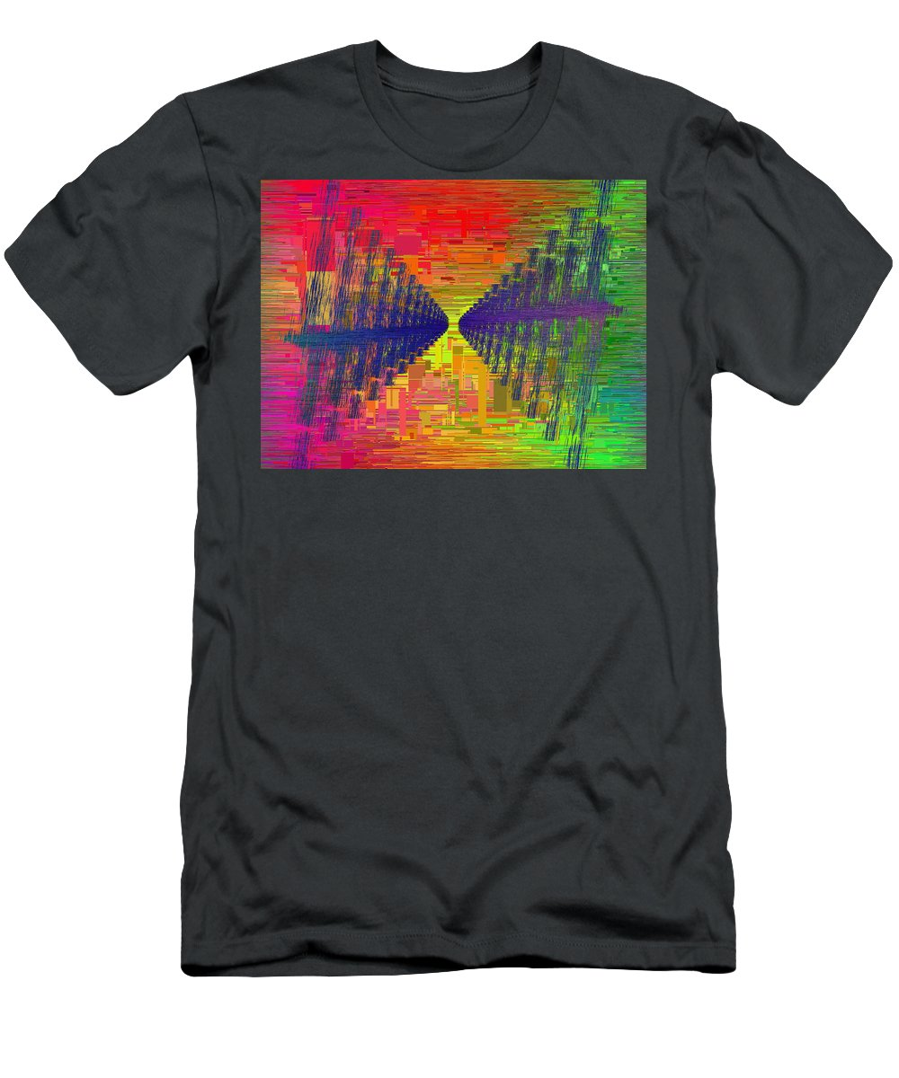 Abstract Men's T-Shirt (Athletic Fit) featuring the digital art Abstract Cubed 3 by Tim Allen