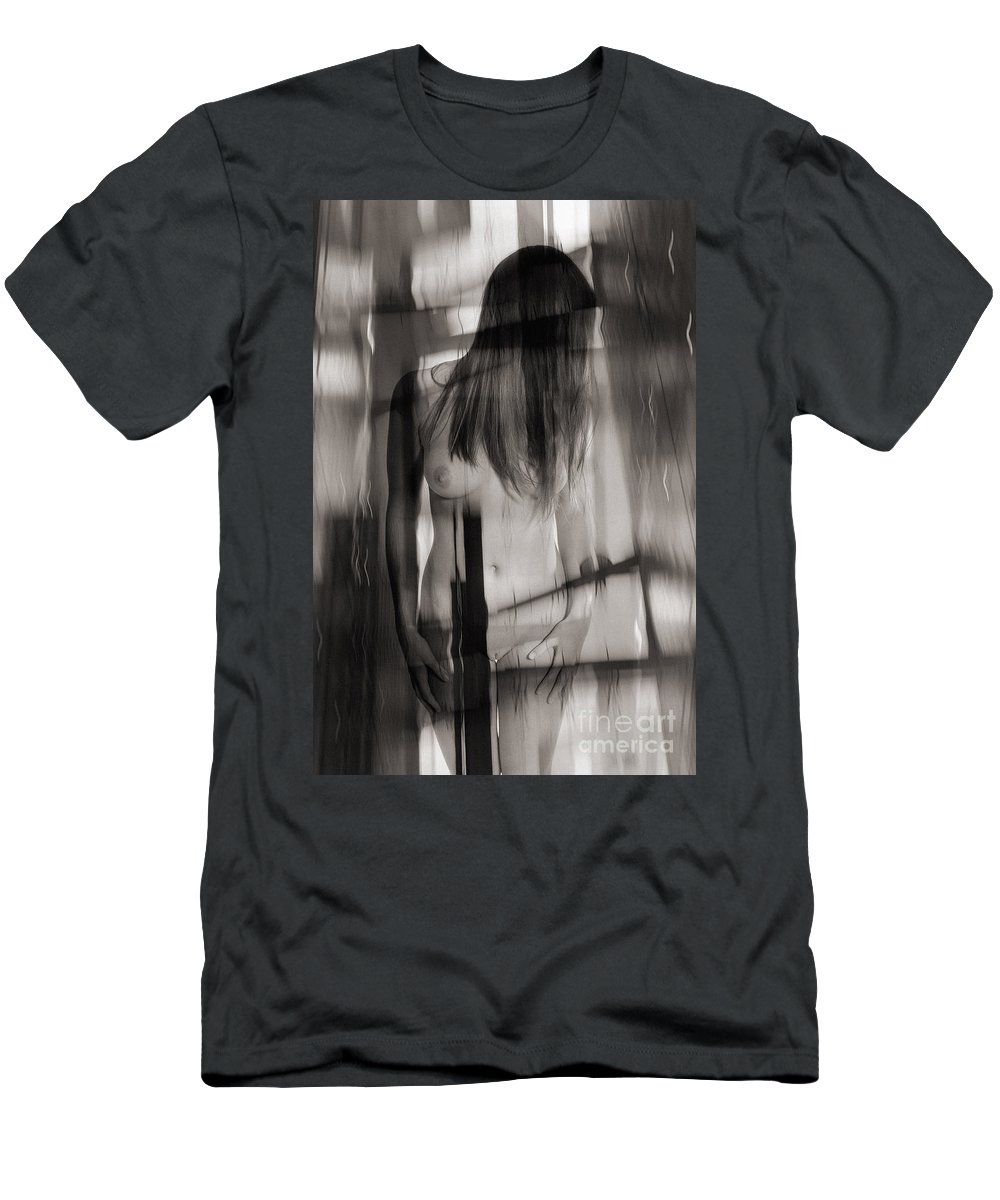 Woman Men's T-Shirt (Athletic Fit) featuring the photograph Abstract Nude Woman 3 by Jochen Schoenfeld