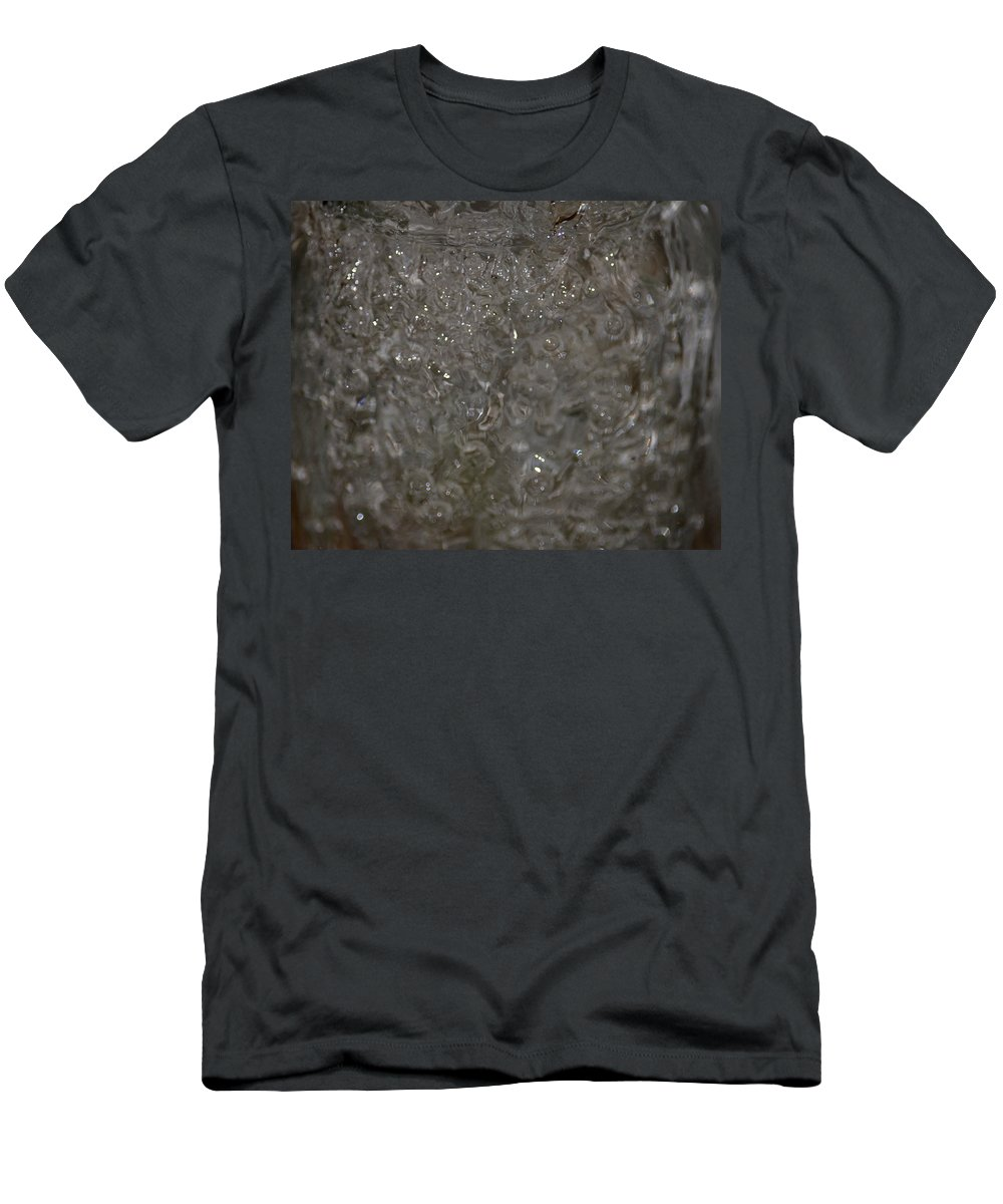 Abstract Water Spill Men's T-Shirt (Athletic Fit) featuring the photograph Abstract Water Spill by Maria Urso
