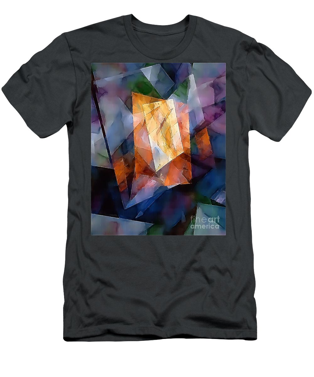 Graphics Men's T-Shirt (Athletic Fit) featuring the digital art Abstraction 0257 Marucii by Marek Lutek