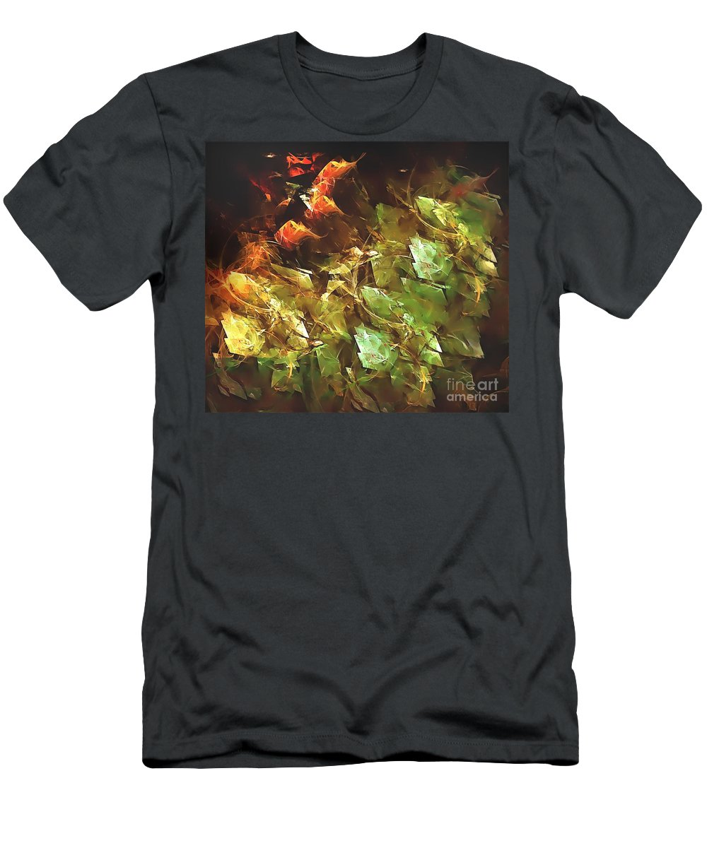 Graphics Men's T-Shirt (Athletic Fit) featuring the digital art Abstraction 0277 Marucii by Marek Lutek