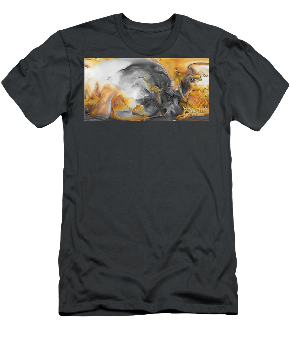 Abstract Men's T-Shirt (Athletic Fit) featuring the painting Abstraction 590-11-13 Marucii by Marek Lutek