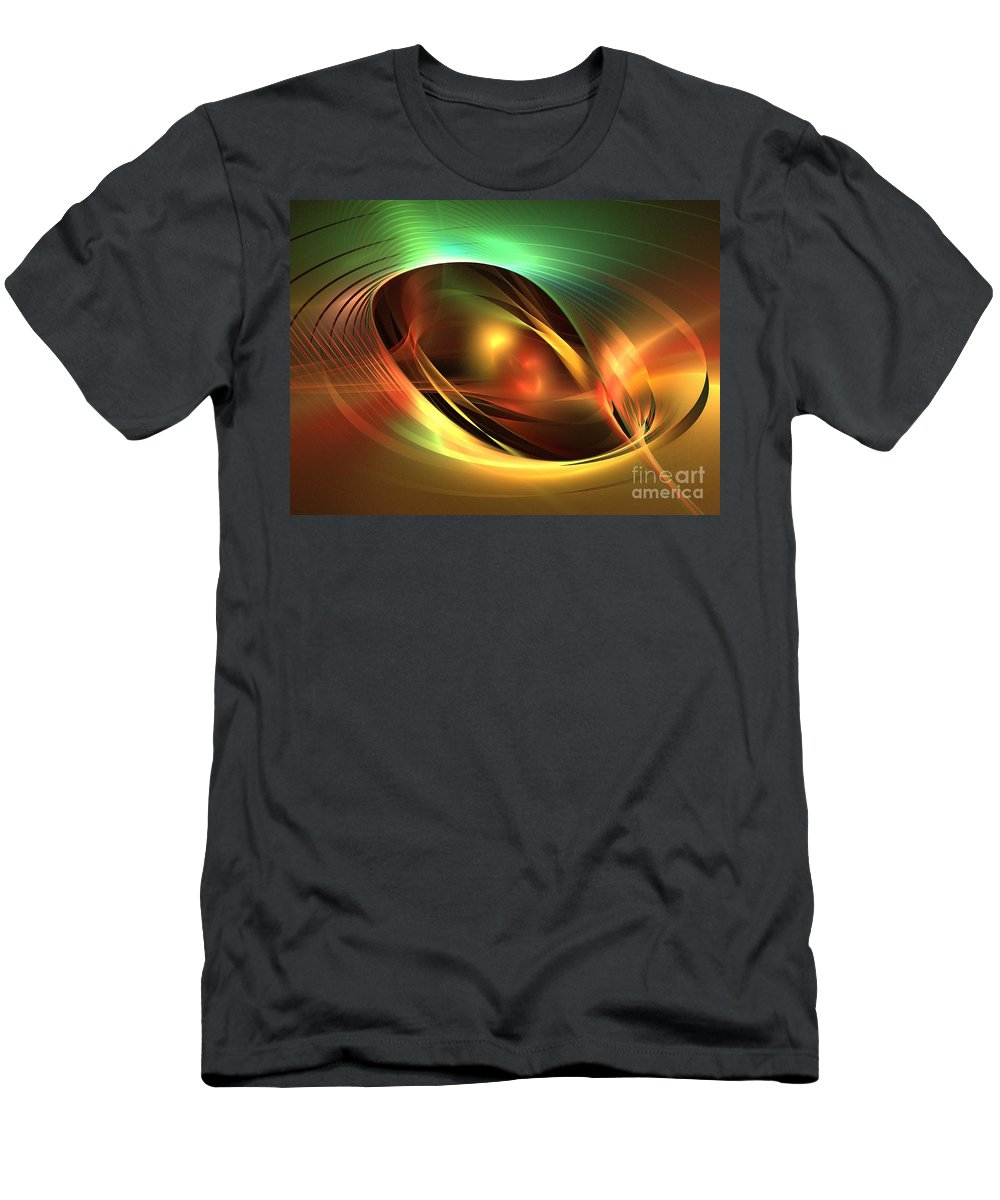 Apophysis Men's T-Shirt (Athletic Fit) featuring the digital art Accretion Disk by Kim Sy Ok