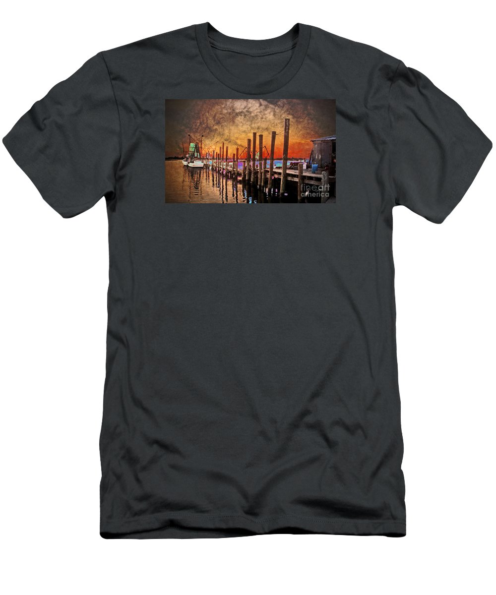 North Carolina Men's T-Shirt (Athletic Fit) featuring the photograph Acid Washed by Kelley Freel-Ebner