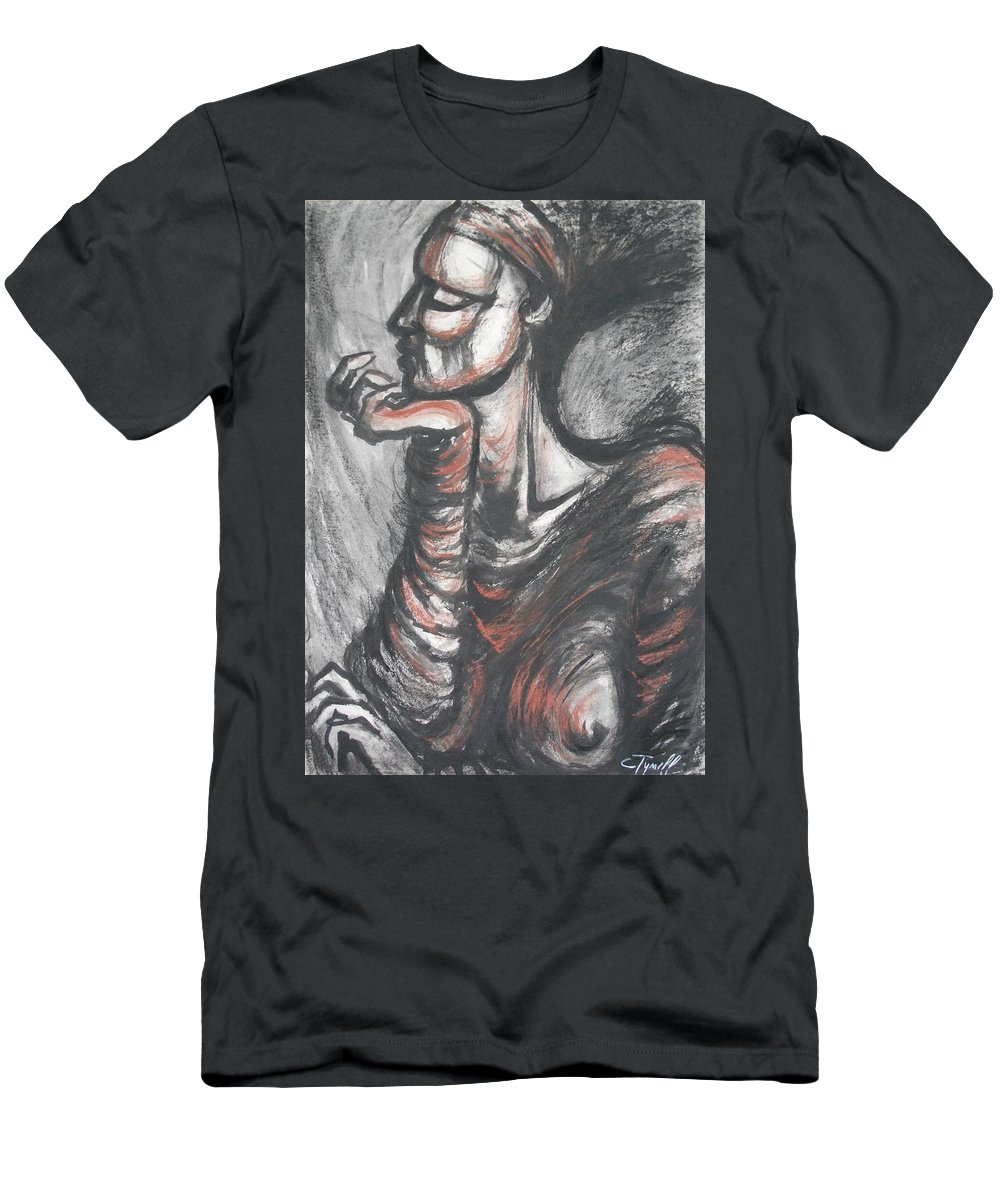 Original Men's T-Shirt (Athletic Fit) featuring the painting African Queen by Carmen Tyrrell