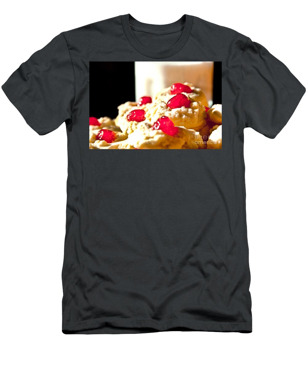 Cookies Men's T-Shirt (Athletic Fit) featuring the photograph After School Snack by Cheryl Baxter