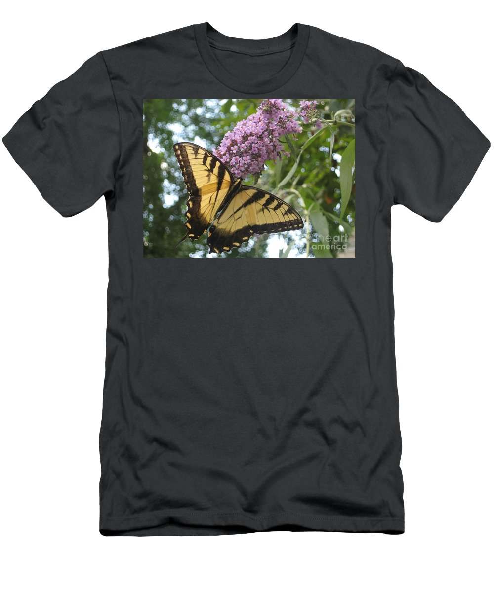 Butterfly Men's T-Shirt (Athletic Fit) featuring the photograph Afternoon Flight by Christina Gupfinger