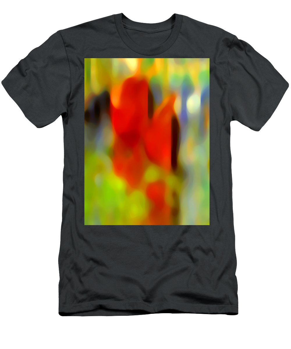 Abstract Men's T-Shirt (Athletic Fit) featuring the painting Afternoon In The Park by Amy Vangsgard