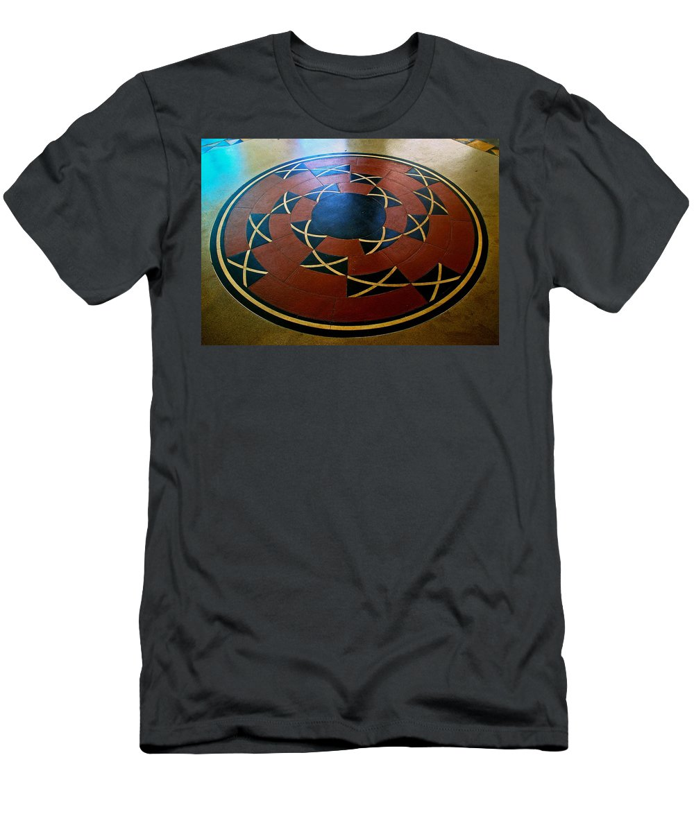 Ahwahnee Hotel Men's T-Shirt (Athletic Fit) featuring the photograph Ahwahnee Hotel Floor Medallion by Eric Tressler