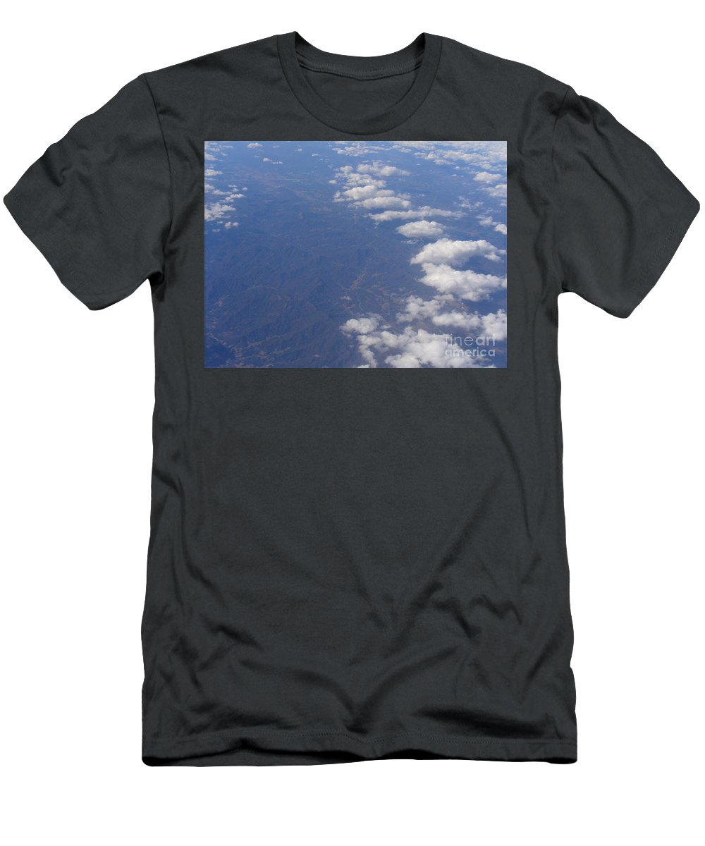 Aerial View Photograph Men's T-Shirt (Athletic Fit) featuring the photograph Ain't No Mountain High Enough by Lingfai Leung