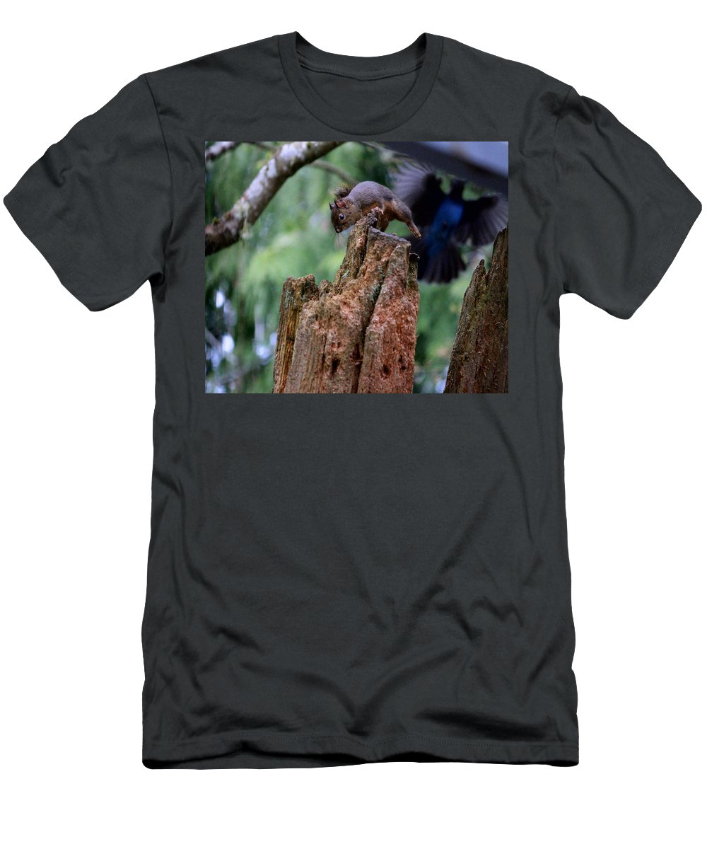 Mammals Men's T-Shirt (Athletic Fit) featuring the photograph Air Attack On Bud by Kym Backland