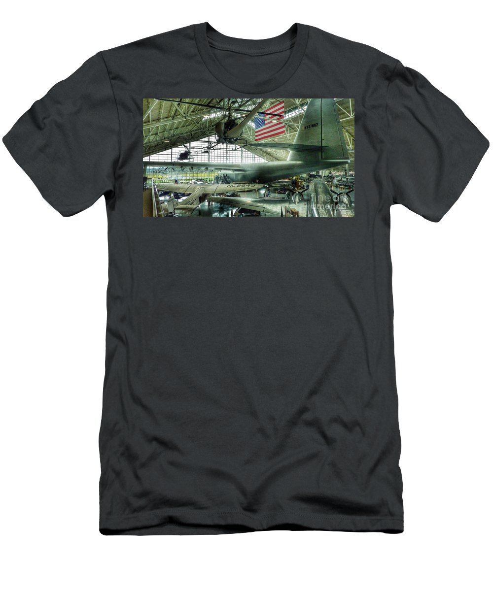Vintage Airplanes Men's T-Shirt (Athletic Fit) featuring the photograph Airplane Era by Susan Garren