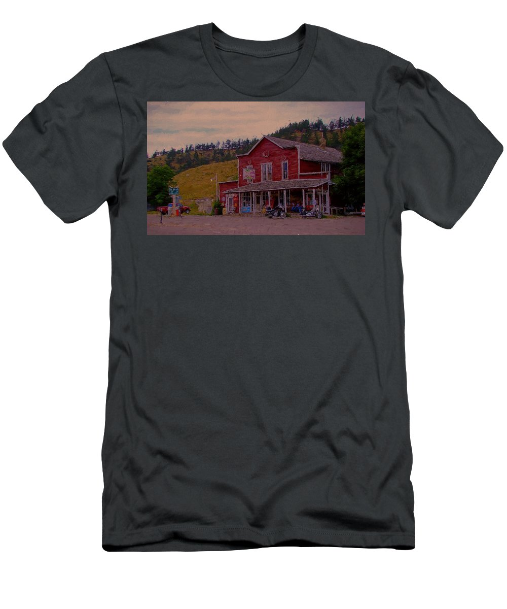 Aladin Wyoming Men's T-Shirt (Athletic Fit) featuring the digital art Aladin Wyoming by Cathy Anderson