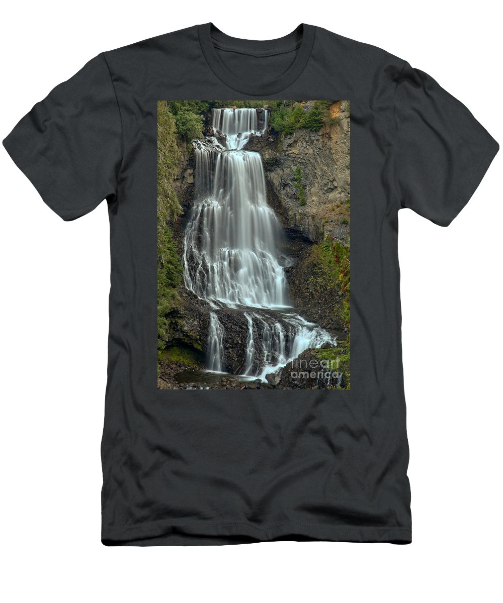 Alexander Falls Men's T-Shirt (Athletic Fit) featuring the photograph Alexander Falls Recreation Site - Whistler Bc by Adam Jewell