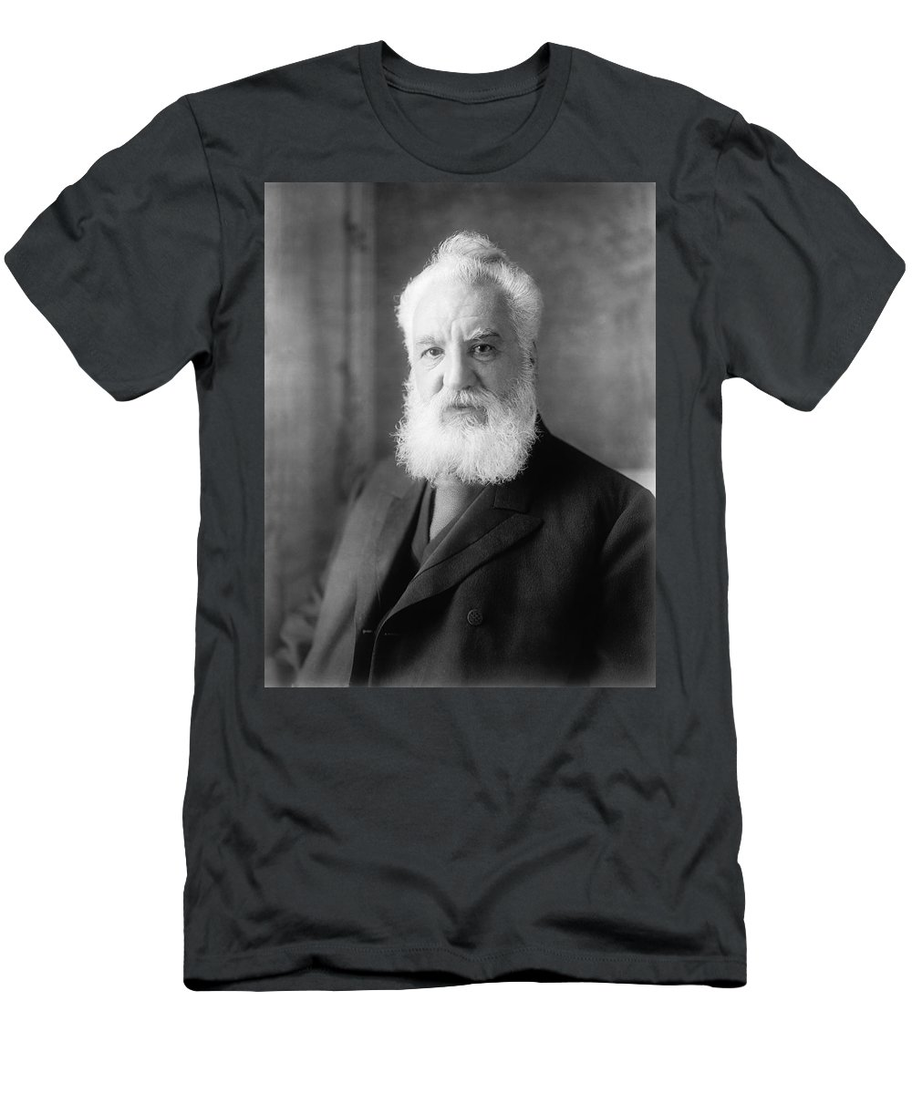 1 Person Men's T-Shirt (Athletic Fit) featuring the photograph Alexander Graham Bell by Underwood Archives