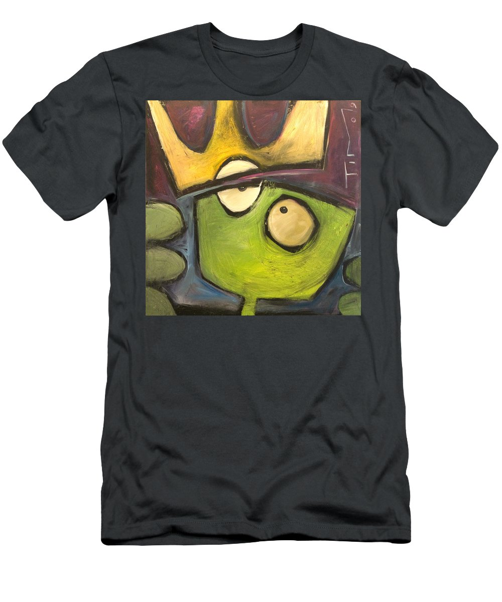 Alien Men's T-Shirt (Athletic Fit) featuring the painting Alien King by Tim Nyberg