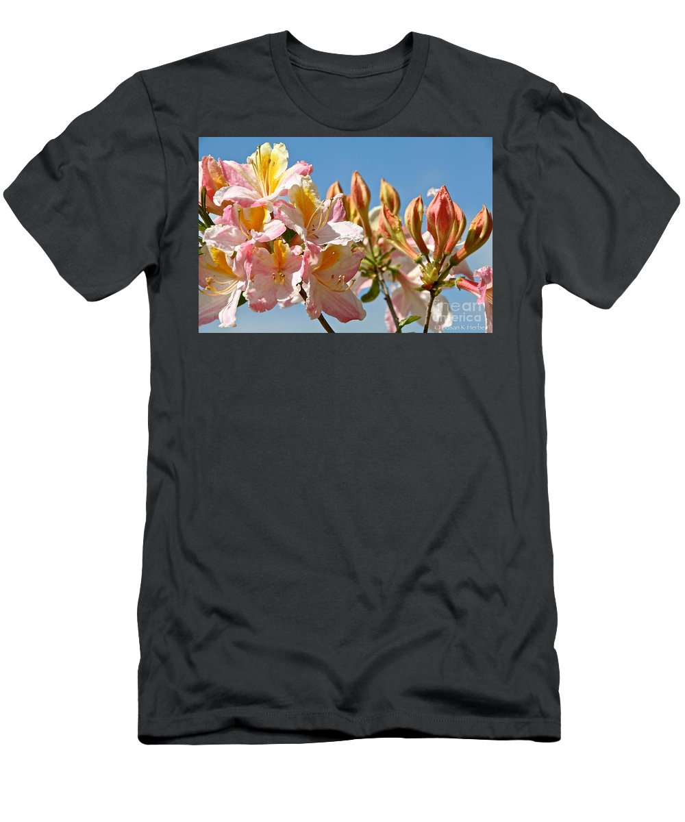 Flower Men's T-Shirt (Athletic Fit) featuring the photograph All Stages Of Bloom by Susan Herber