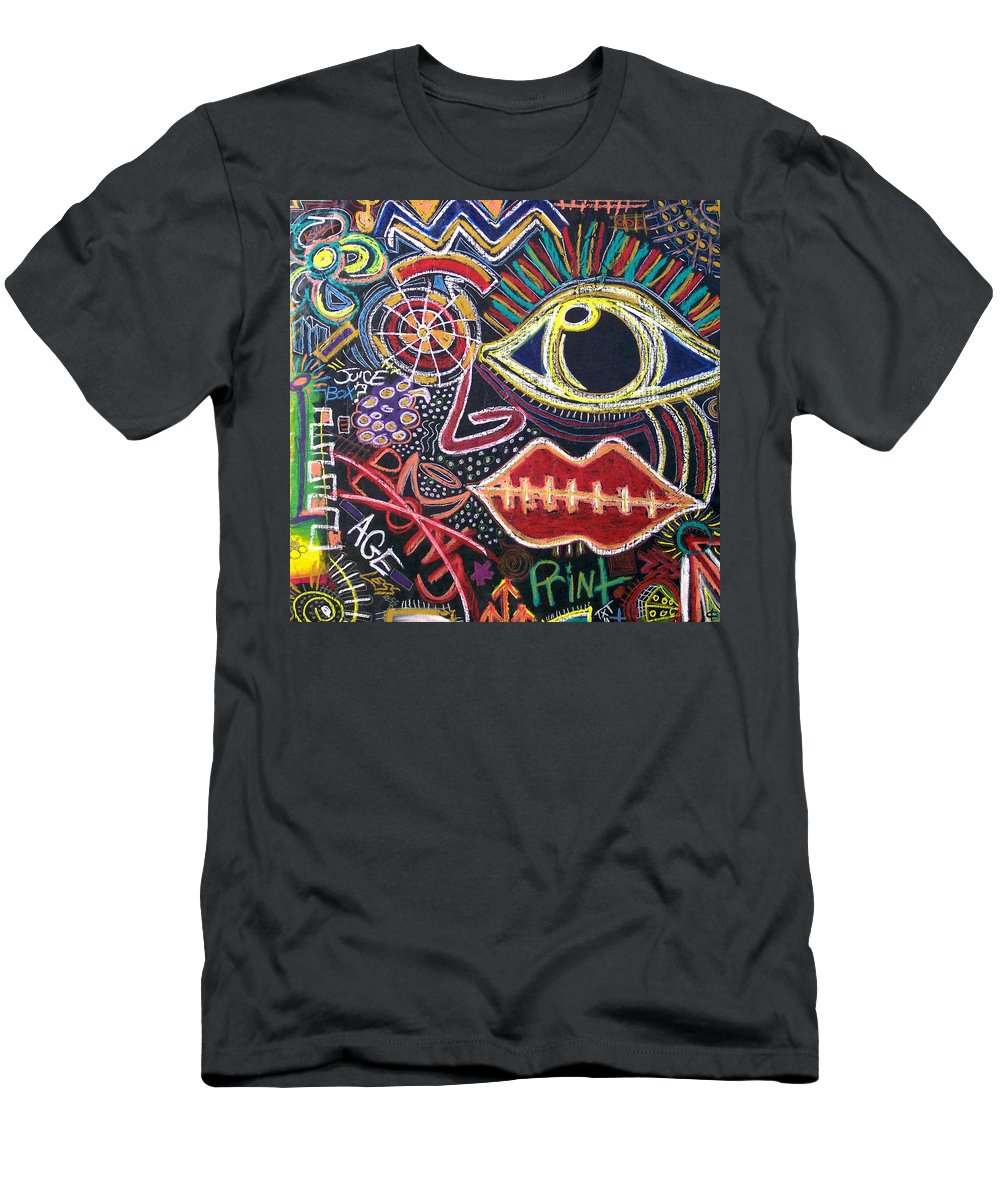 Oilpastels Men's T-Shirt (Athletic Fit) featuring the digital art All That Is Left by Kamoni Khem