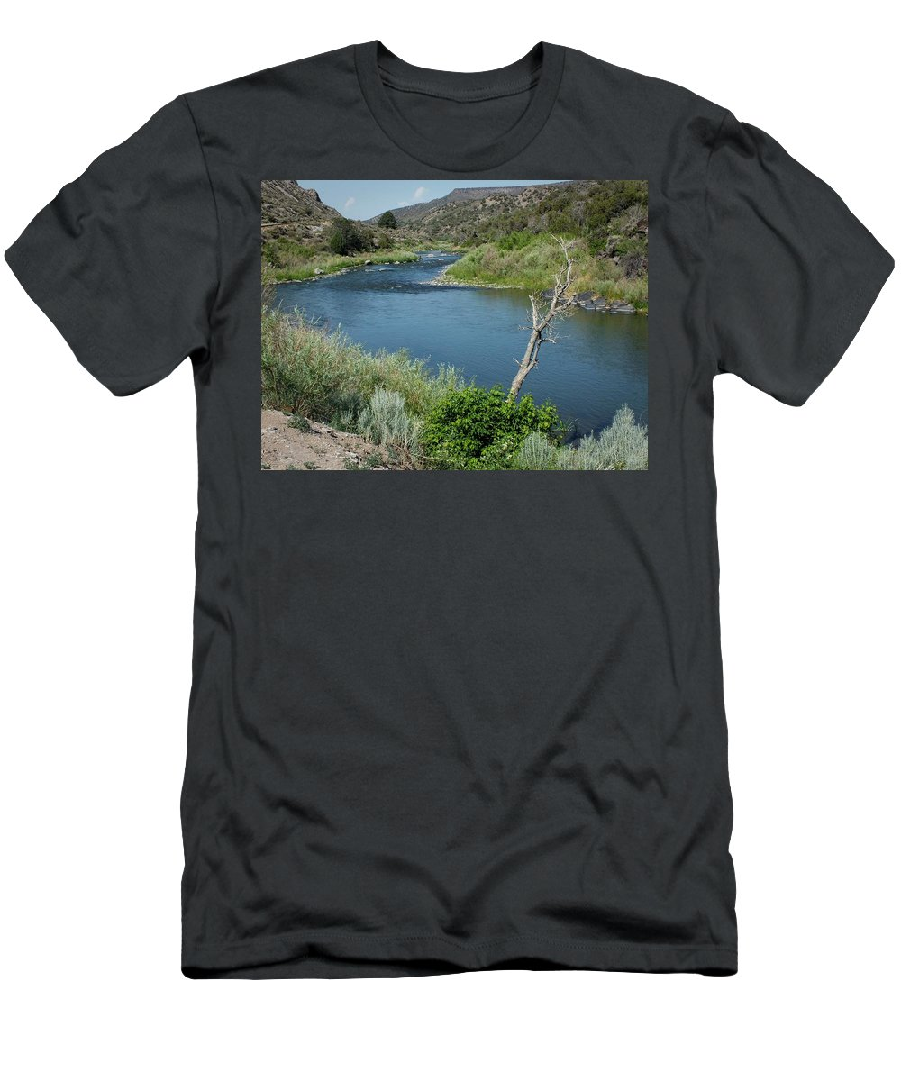 Lucinda Walter Men's T-Shirt (Athletic Fit) featuring the photograph Along The Rio Grande River by Lucinda Walter