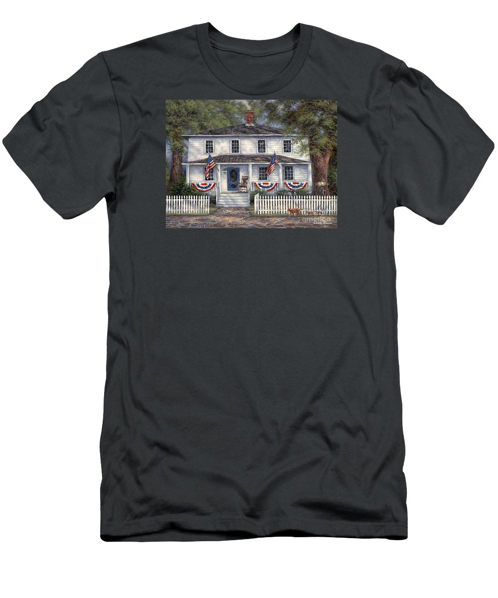 Partriotic T-Shirt featuring the painting American Roots by Chuck Pinson
