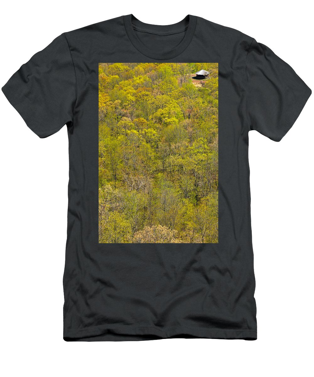 Trees Men's T-Shirt (Athletic Fit) featuring the photograph Among The Trees by Karol Livote