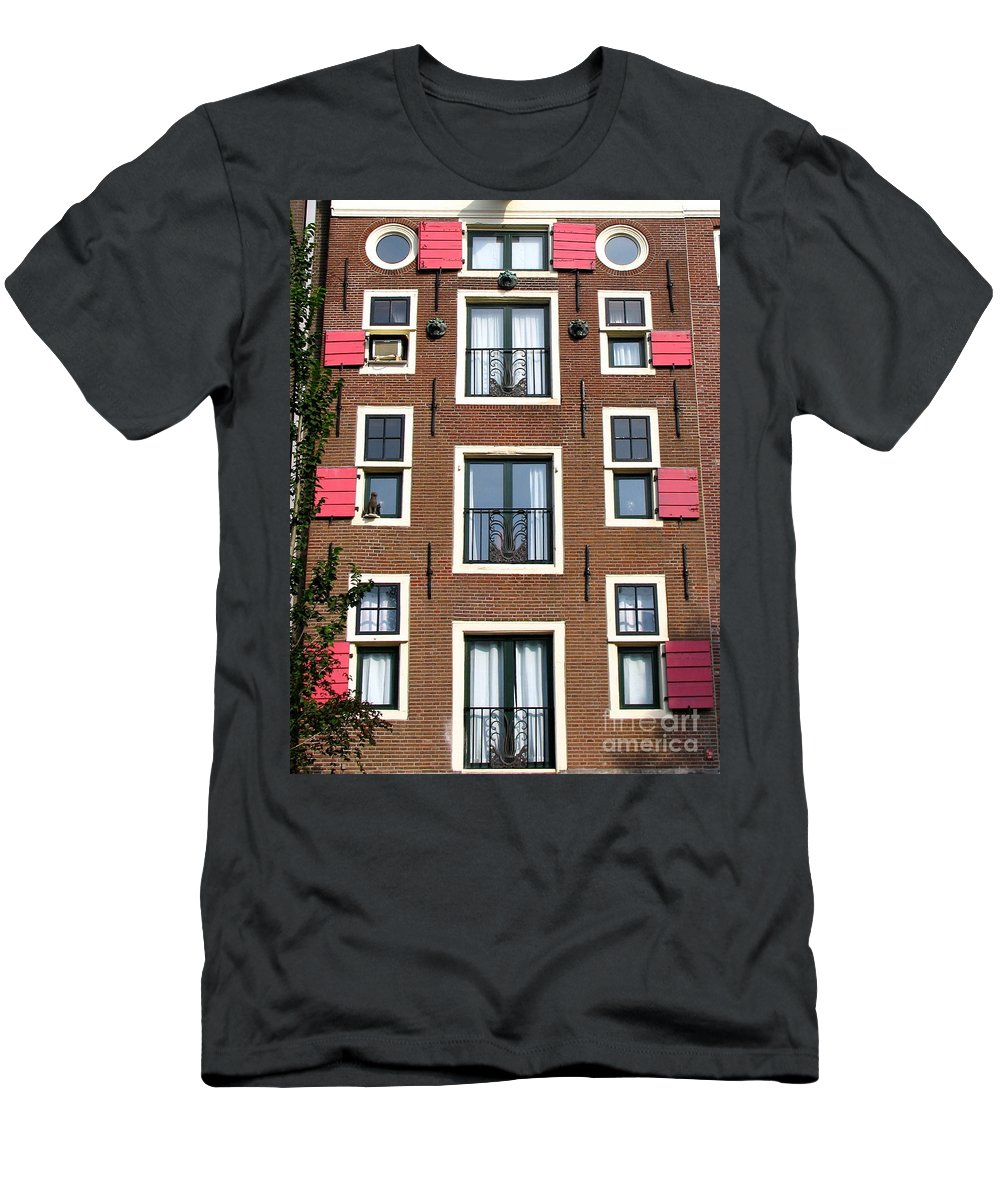 Amsterdam Men's T-Shirt (Athletic Fit) featuring the photograph Amsterdam Architecture by Suzanne Oesterling