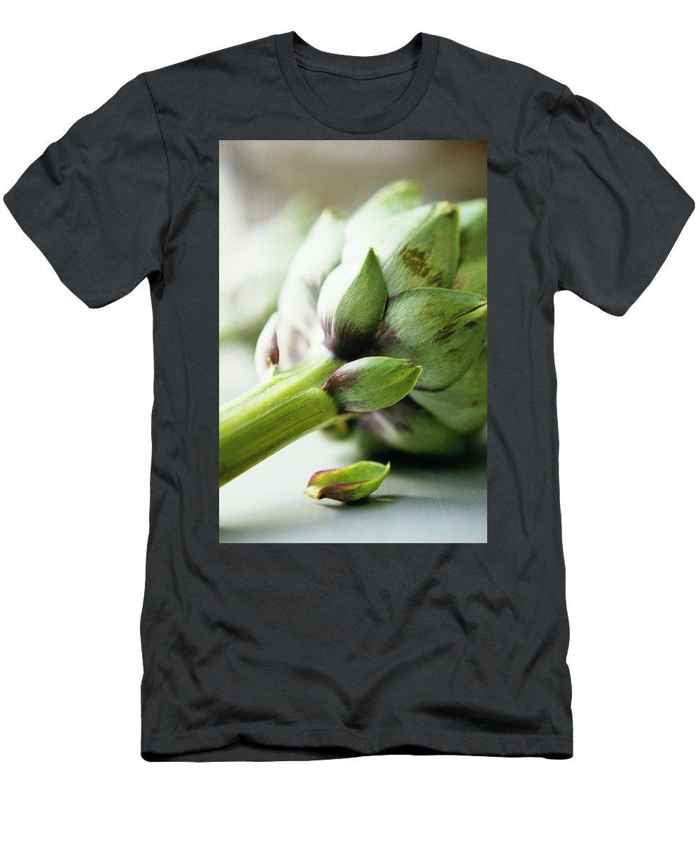 Fruits T-Shirt featuring the photograph An Artichoke by Romulo Yanes