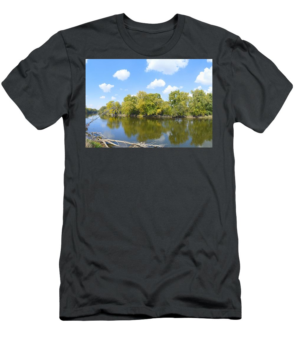 Environment Men's T-Shirt (Athletic Fit) featuring the photograph An Autumn Day by Bonfire Photography