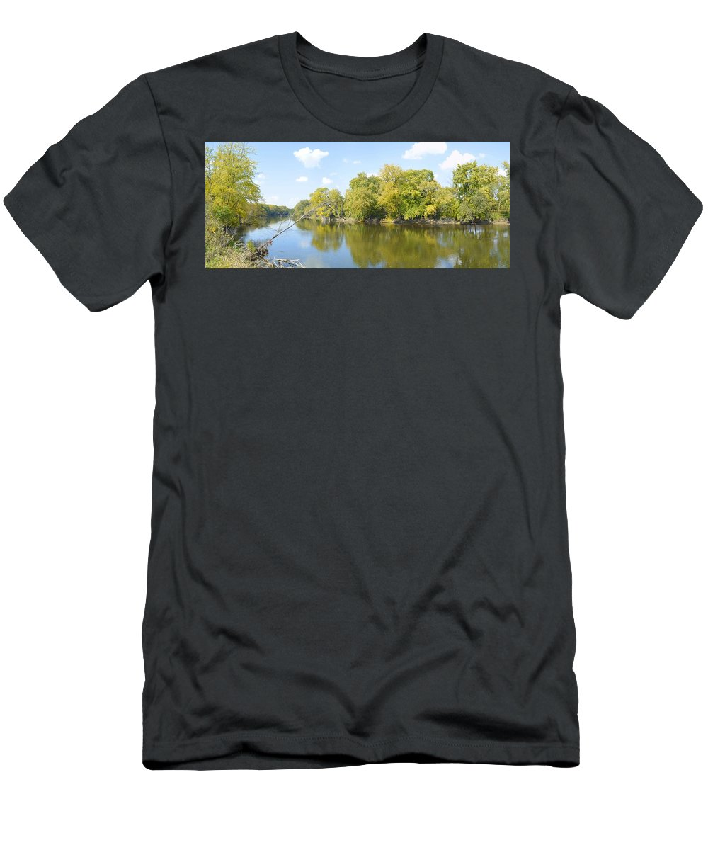 Environment Men's T-Shirt (Athletic Fit) featuring the photograph An Autumn Day Panoramic by Bonfire Photography