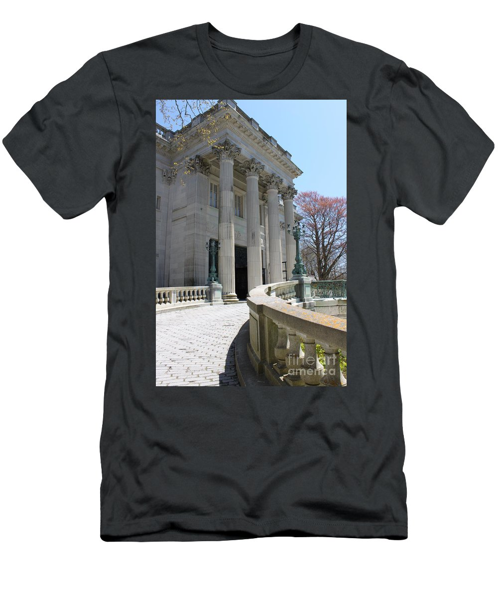 Newport Mansion Men's T-Shirt (Athletic Fit) featuring the photograph An Elegant Newport Mansion by Jennifer E Doll