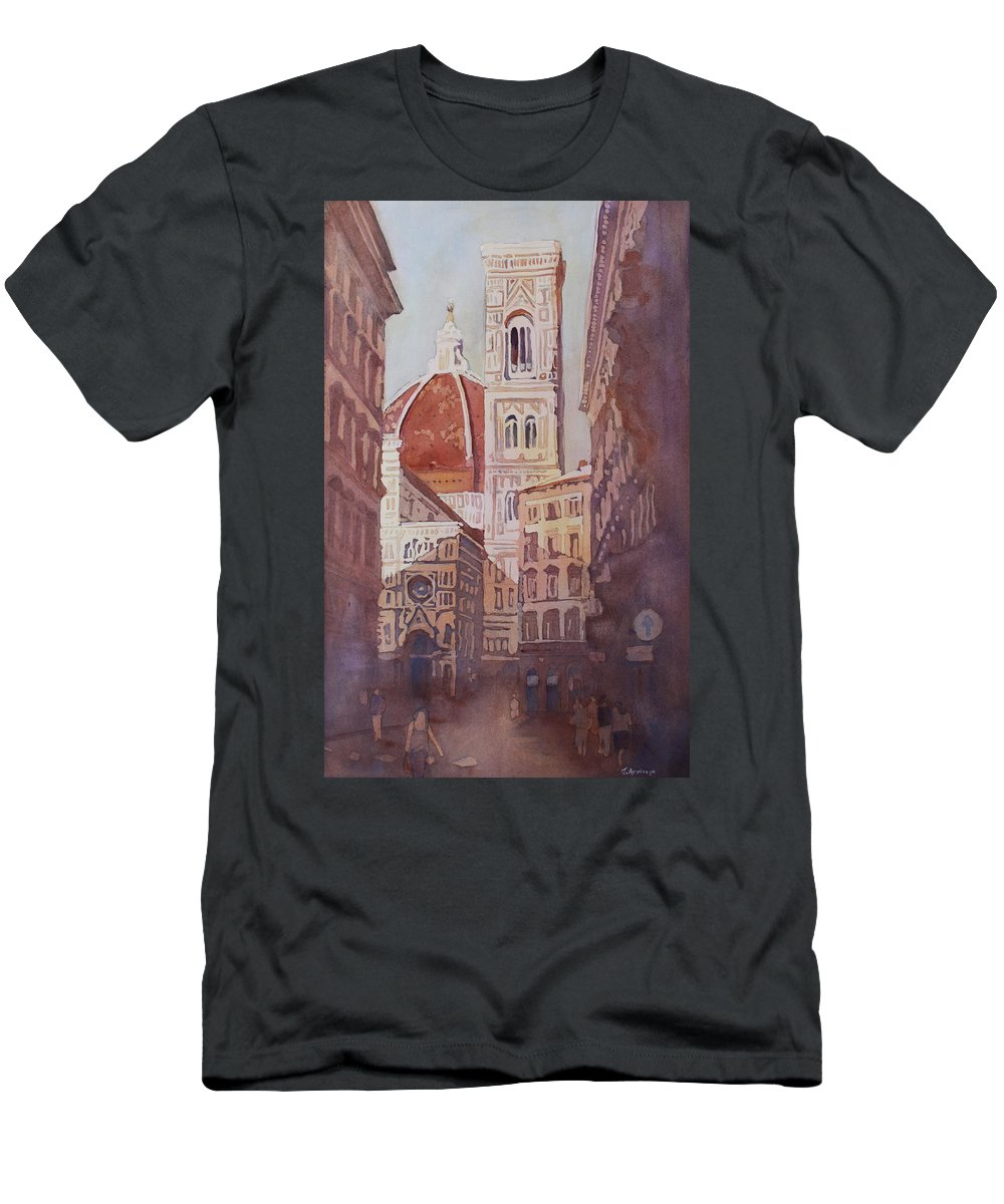 Duomo Campainula T-Shirt featuring the painting And Suddenly The Duomo by Jenny Armitage