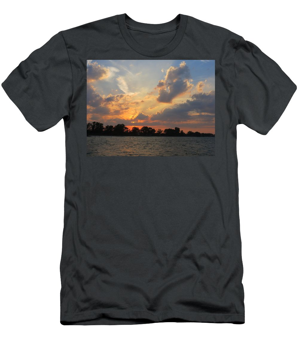 Island T-Shirt featuring the photograph Anna Maria Sunset by Jean Macaluso