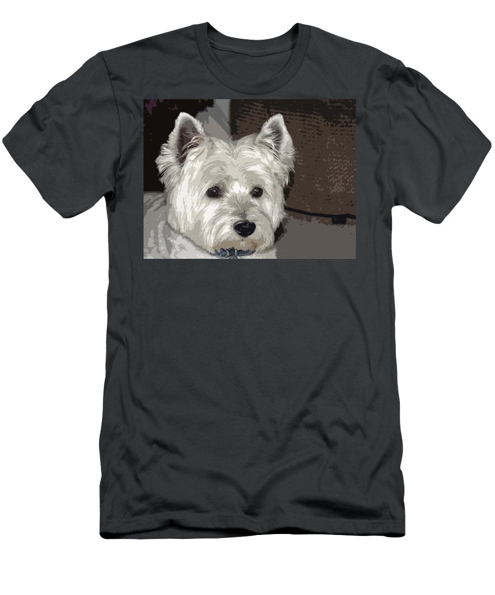 Westie Men's T-Shirt (Athletic Fit) featuring the photograph Annie by Linda Dunn