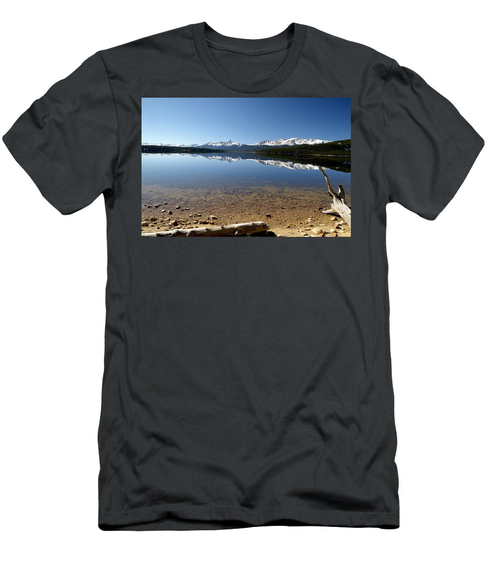 Reflection Men's T-Shirt (Athletic Fit) featuring the photograph Another Perfect Day by Jeremy Rhoades