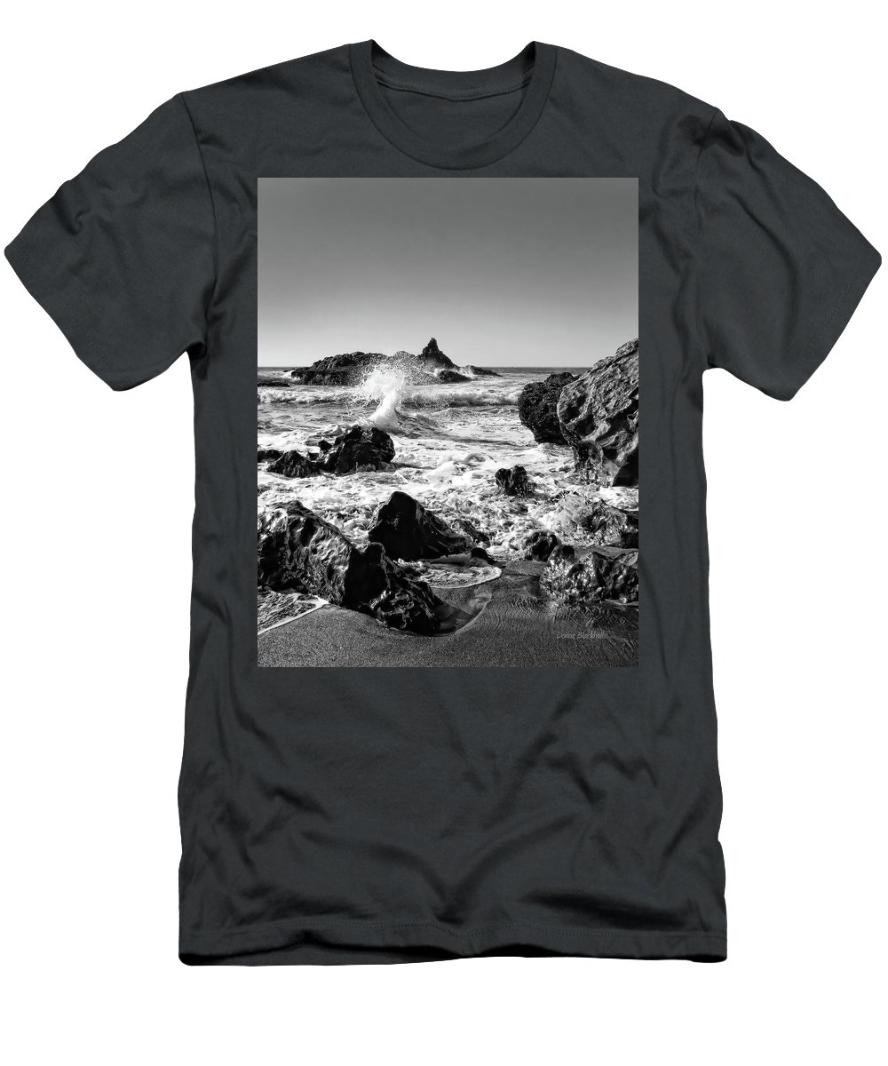Ocean Men's T-Shirt (Athletic Fit) featuring the photograph Another World by Donna Blackhall