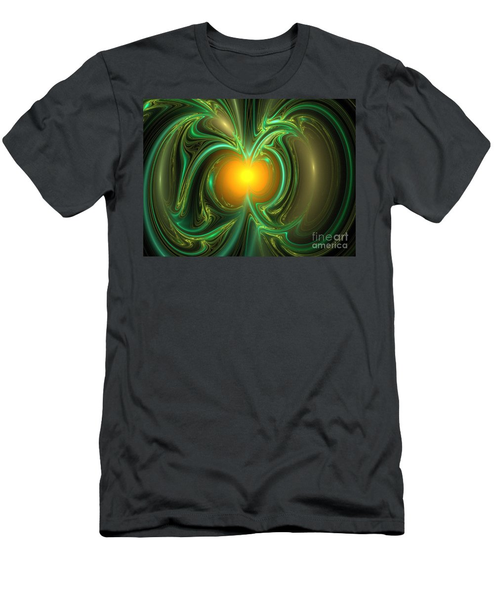 Apophysis Men's T-Shirt (Athletic Fit) featuring the digital art Anthropic Principle by Kim Sy Ok