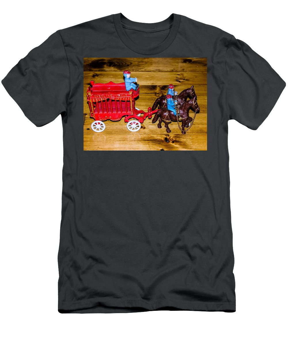 Overland Park Circus Men's T-Shirt (Athletic Fit) featuring the photograph Antique Cast Iron Toy by Sherman Perry