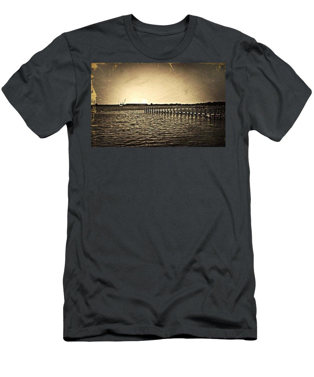 Antique Men's T-Shirt (Athletic Fit) featuring the photograph Antique Photo Of Pier by Susan Leggett