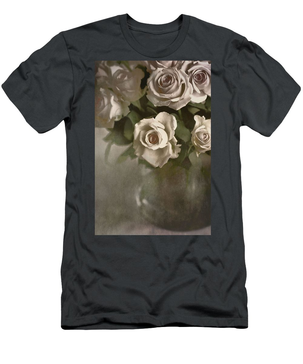 Roses Men's T-Shirt (Athletic Fit) featuring the photograph Antique Roses by Annie Snel