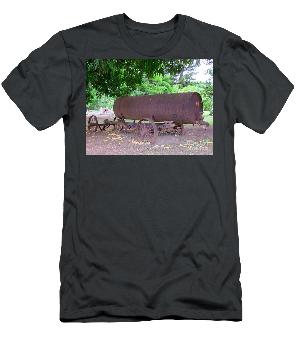 Water Tank Men's T-Shirt (Athletic Fit) featuring the photograph Antique Water Tank - No 2 by Mary Deal