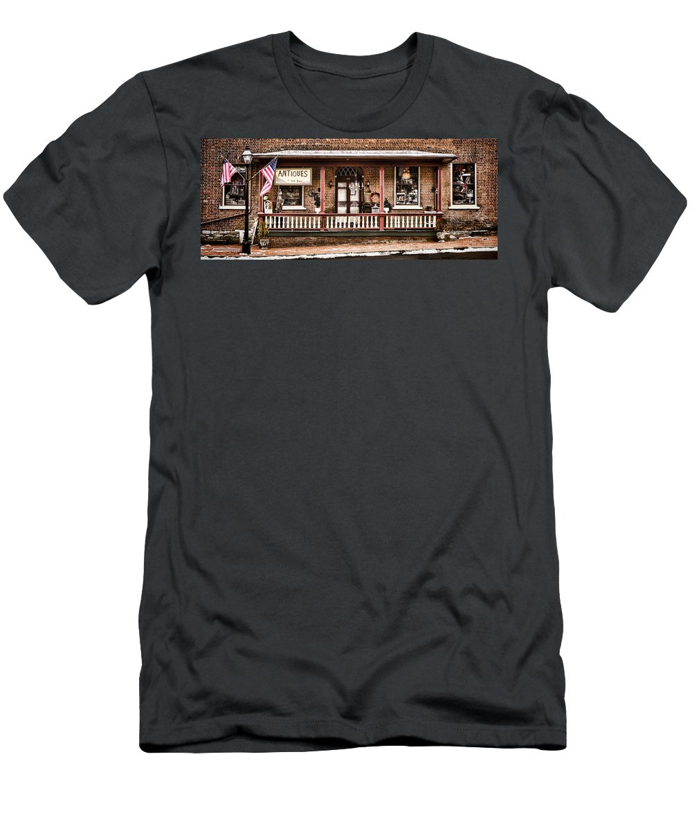 Shop Men's T-Shirt (Athletic Fit) featuring the photograph Antiques Bought And Sold by Heather Applegate