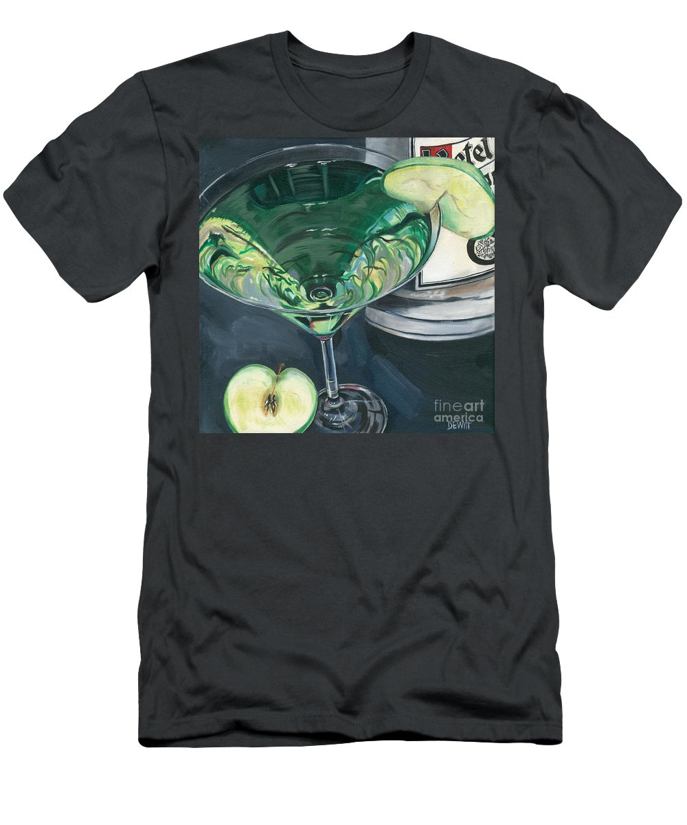 Apple Men's T-Shirt (Athletic Fit) featuring the painting Apple Martini by Debbie DeWitt
