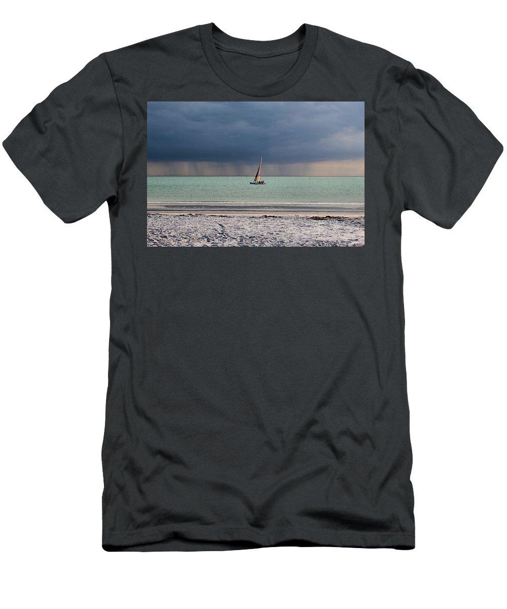 Storm Men's T-Shirt (Athletic Fit) featuring the photograph Approaching Storm by DJ Florek