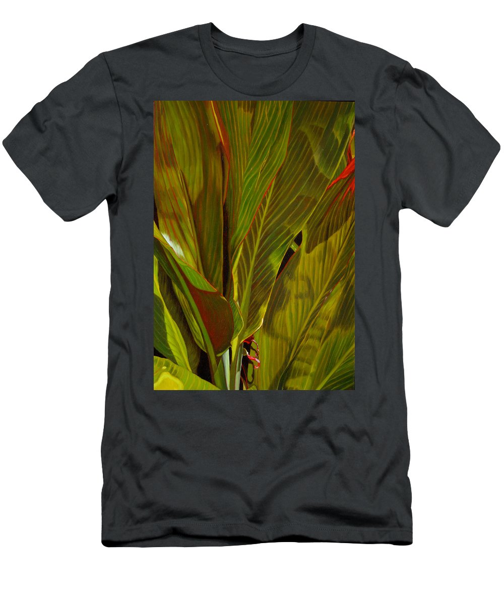 Plant Men's T-Shirt (Athletic Fit) featuring the painting April by Thu Nguyen